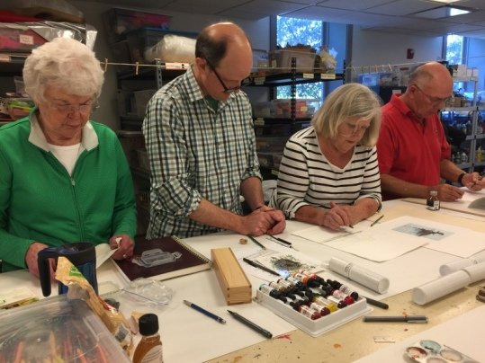 Bill Hosterman workshop at Crooked Tree Art Center - June 2017