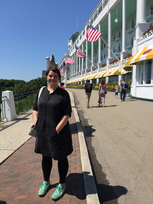 Amanda Hamilton on Mackinac Island