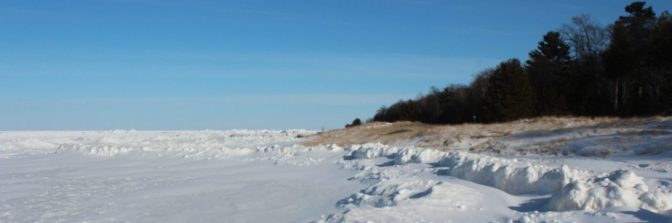 Lake Michigan in January