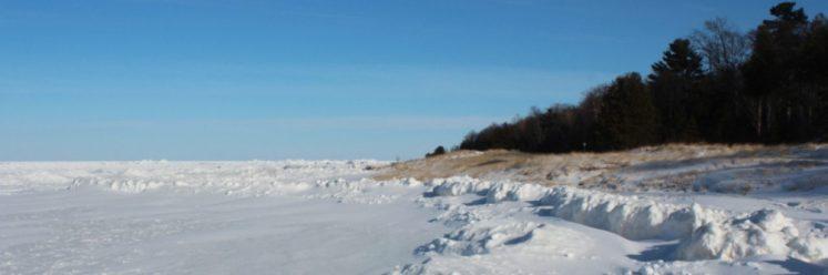Lake Michigan in January