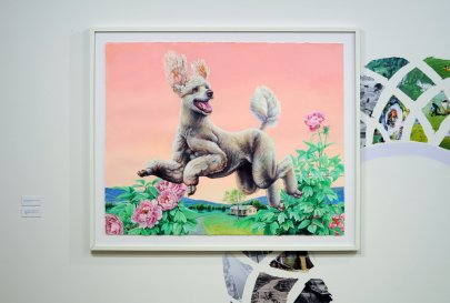 Happy_Poodle_Acrylic_on_Paper_with_Installation_from_Happy_Animal_2018