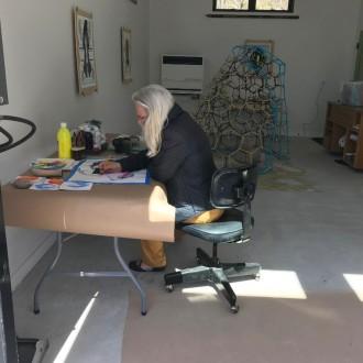 Elsabe Dixon in the Studio