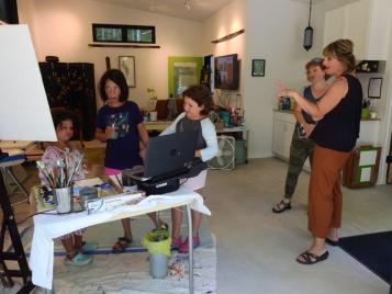 Andrea Novak open studio
