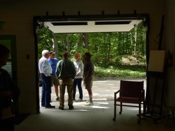 open studio door open